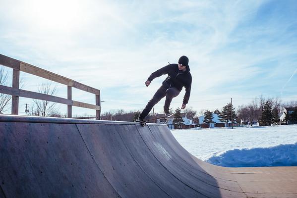 JOED VIERA/STAFF PHOTOGRAPHER- Lockport, NY-Matt Gagliardi skates at the Lockport Skate Park. Thursday, March 12, 2015