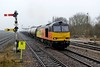 17 March 2015 :: 60087 at Barnetby in really horrible dull weather with 6E82, empty oil from Rectory Junction to Lindsey