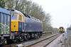 16 March 2015 :: The going away view of 47843 with 4D95 at Howden