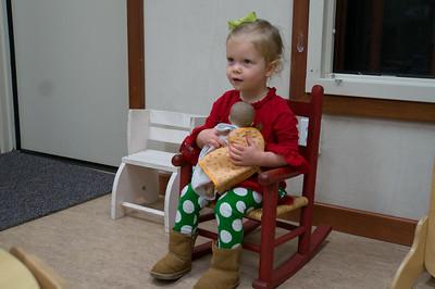 Marshall's preschool Christmas program