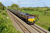 18 May 2015 :: Pictured at Portskewett is 66008 powering 6V07 from Round Oak to Margam