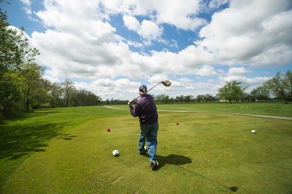 JOED VIERA/STAFF PHOTOGRAPHER-Lockport, NY-Ray Ferington golfs at Niagara County Golf Course. Wednesday, May 13, 2015.