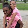 JOED VIERA/STAFF PHOTOGRAPHER-Lockport, NY-Laura Harris 11 and Jailyn Gillon 12 play at Willow Park.