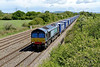 18 May 2015 :: Nearing the end of its journey at Coed Kernew is 66423 with the Tesco Express, 4V38 from Daventry to Wentloog