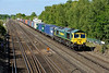 27 May 2015 :: To conclude a busy period of up trains at Worting is 66593 with 4M55 Southampton to Lawley Street