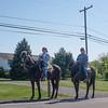 JOED VIERA/STAFF PHOTOGRAPHER-Gasport, NY-Linda Spencer and Samantha Conley ride horses on Slayton Settlement Road. Thursday, May 14, 2015.