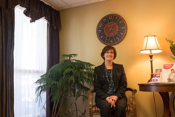 JOED VIERA/STAFF PHOTOGRAPHER-Lockport, NY-Briody Health Care Facility owner Ann Briody Petock sits Wednesday, May 20, 2015.