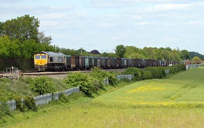 66742 Battledown 30/05/15 4Y19 Mountfield to Southampton Western Docks