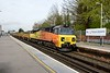 1 May 2015 :: 70806 is at Basingstoke powering 6Y41 from Eastleigh to Hoo Junction