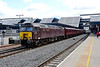 28 May 2015 :: Diesel was today substituting for steam on The Cathedrals Express to Minehead and train 1Z60 led by 57315 is seen departing from Reading