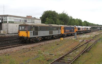 73128 Basingstoke 02/06/15 0Y68 Tonbridge to Eastleigh with 73136, 66763 and 66748