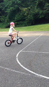 Amelia's first official solo bike ride