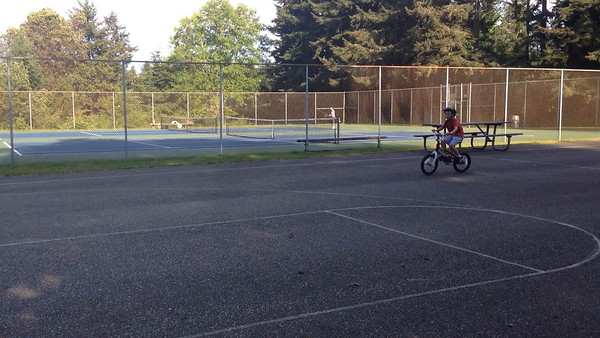 Connor's first official solo bike ride