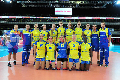 London Legacy Volleyball Cup - RC Cannes 3 vs. 1 Schweriner SC (25-20, 25-20, 20-25, 25-21), Copper Box Arena, Queen Elizabeth Olympic Park, 13 September 2015.  © Lynne Marshall