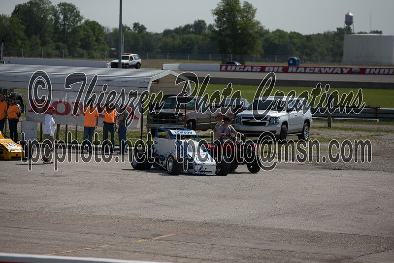 5/23/2015  - Silver Crown Night before the 500 race  at the Lucas Oil Speedway- Brownsburg, IN, USA -  Photo by Eric Thieszen.