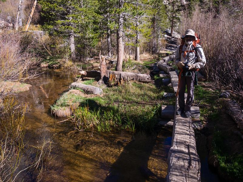 Crossing Lone Pine Creek