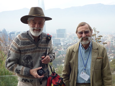 Myth members - Dave Cameron and Bill Dantzler in Santiago - Erika Milam