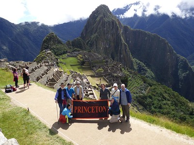 Princeton Journeys group at Machu Picchu