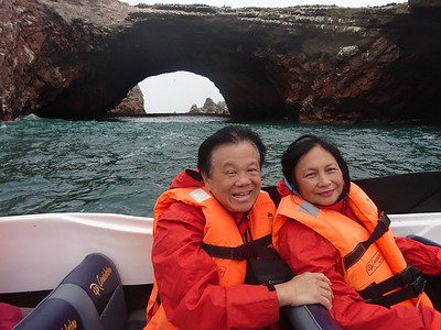 Fred and Anita Chu at Ballestas Islands - Fred Chu '67 P03 P06