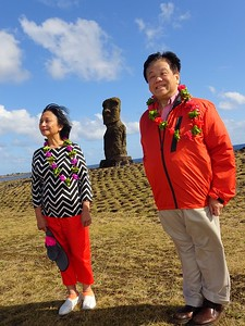 Three Moai at Easter Island - Fred Chu
