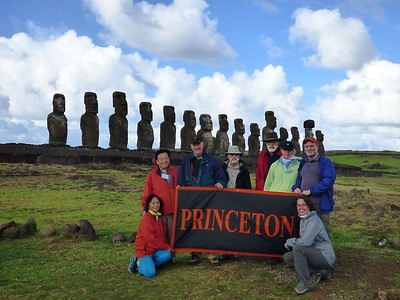 Princeton group at Easter Island