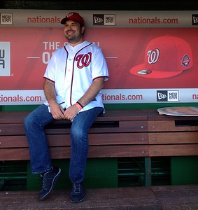 Craig in the Nationals dugout (photo by Jenni Simmons)