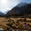 Kelsey soaks in the views of Aoraki from the valley below as he struggled to capture the magnificence through a camera's lens.
