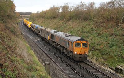 66731 Popham 25/11/15 6Z25 Tonbridge to Eastleigh with 73128