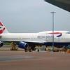 British Airways Boeing 747-400 at London Heathrow.