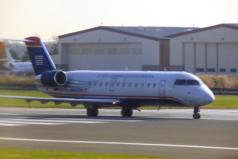 American Airlines US Airways Express liveried Bombardier CRJ-200 N4272W at Philadelphia.