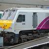 Iarnrod Eireann 201 Class no. 206 at Dublin Connolly with an Enterprise service to Belfast.