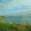 Riding the DART along the coast towards Bray.
