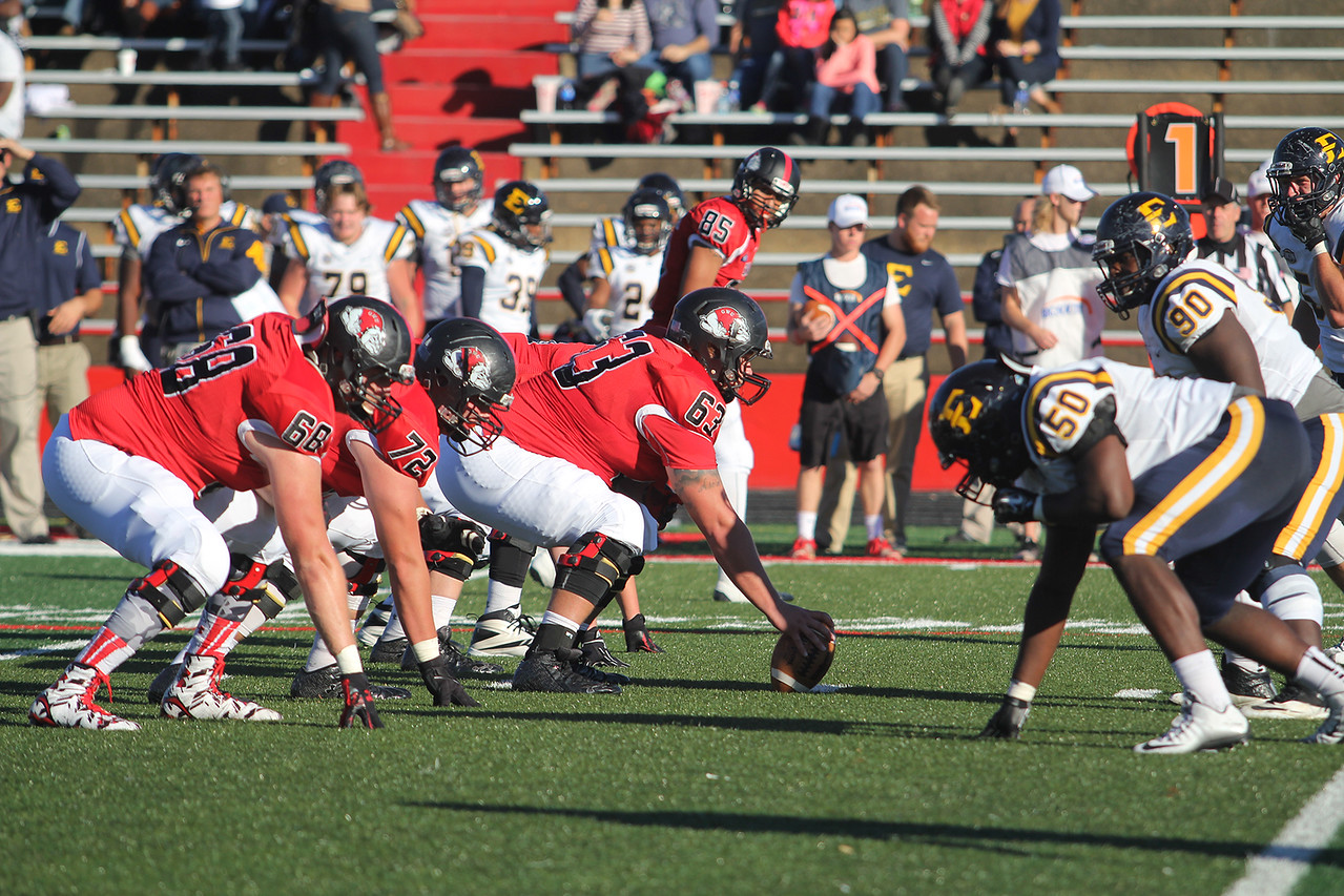 Gardner-Webb Football defeated East Tennessee State University with a score of 28-3, on Saturday, November 14, 2015.
