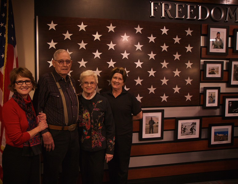 Dedication ceremony introducing Freedom Hall, located on the lower level within the Dover Campus Center at Gardner-Webb University; November 10, 2015.