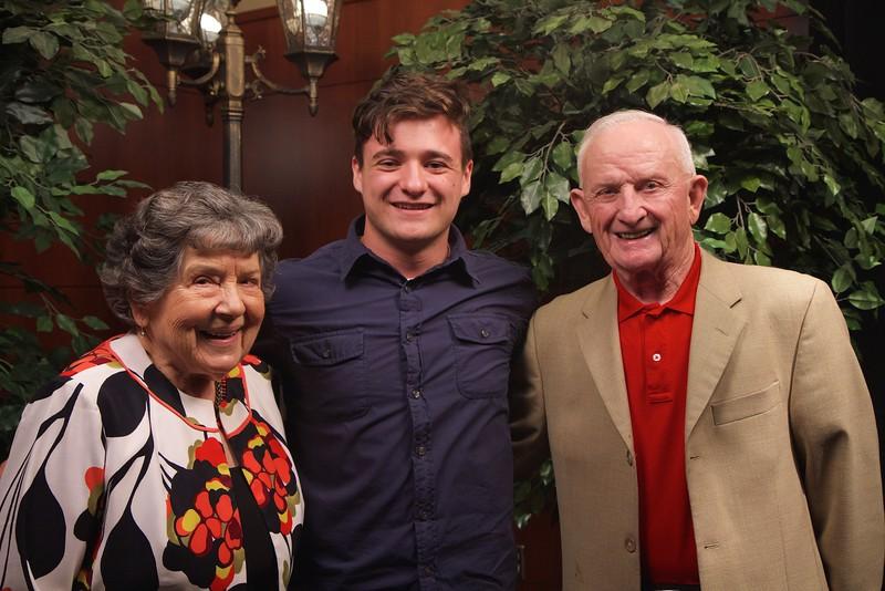 Scholarship Luncheon; Fall 2015. Paul and Faye Comer