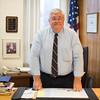 JOED VIERA/STAFF PHOTOGRAPHER Lockport, NY-Niagara County Clerk Wayne Jagow at the Niagara County Courthouse.