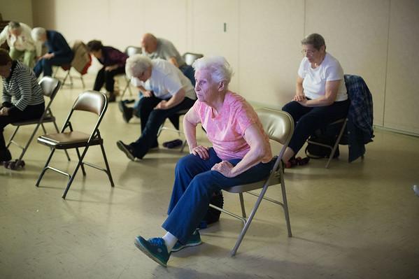 JOED VIERA/STAFF PHOTOGRAPHER Lockport, NY-Patrons practice yoga at the Dale Association.