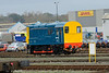 9 November 2015 :: 08721 is shunting within Eastleigh Arlington