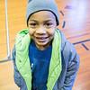 JOED VIERA/STAFF PHOTOGRAPHER Lockport, NY- Amari Jenkins in his new coat.