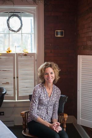 JOED VIERA/STAFF PHOTOGRAPHER Lockport, NY-Ann Murphy sits inside Shamus Restaurant