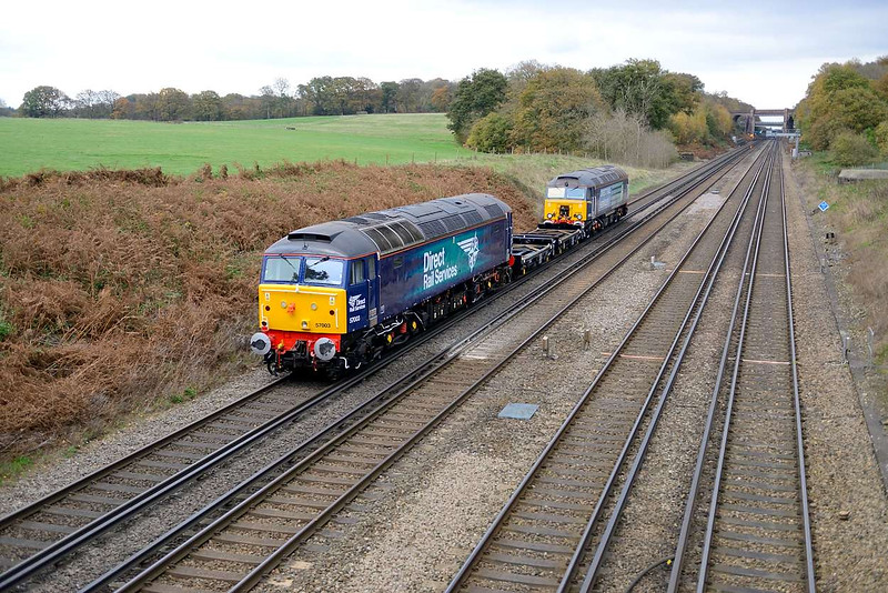 12 November 2015 :: The going away picture of 6Z68  at Potbridge with 57003 and 57309