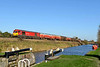 21 November 2015 :: 60054 is pictured alongside the Kennet & Avon Canal at Crofton with a diverted 6B33 from Theale to Margam