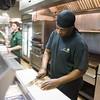 JOED VIERA/STAFF PHOTOGRAPHER Lockport, NY-Line cook Taddy Howard and Sous Chef John DiTondo prep before dinner at Shamus Restaurant.