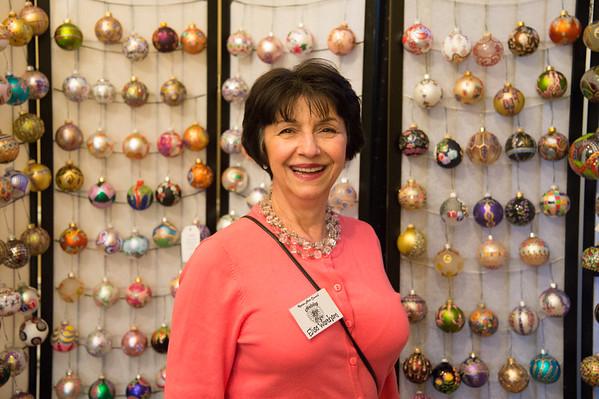 JOED VIERA/STAFF PHOTOGRAPHER Lockport, NY-Elisa Wareham sells handmade ornaments at the Kenan Holiday Craft Show.