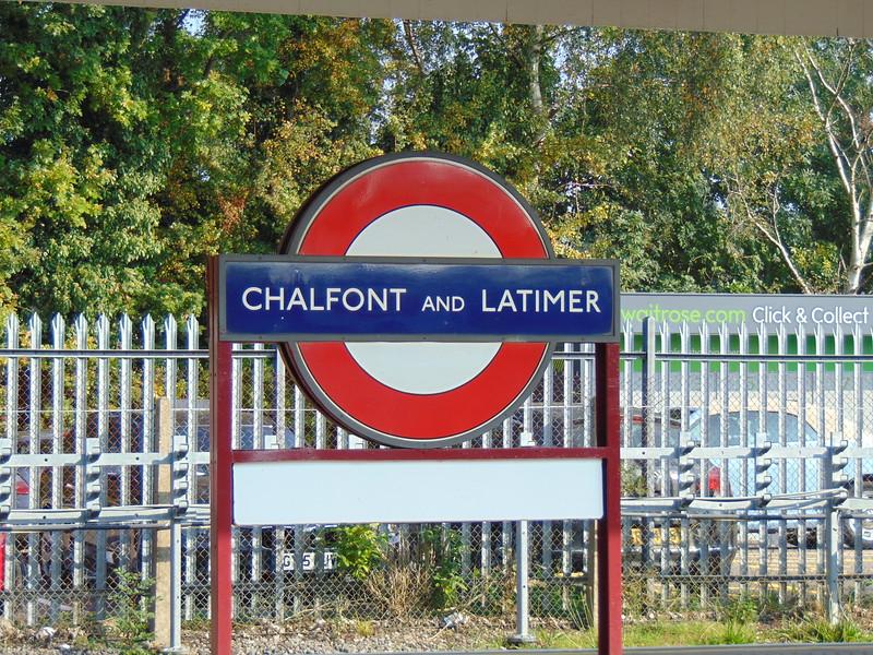 Chalfont & Latimer station on the London Underground Metropolitan Line.