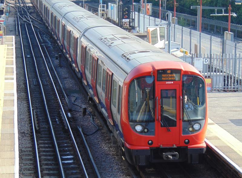 London Underground Metropolitan Line S-stock no. 21020 at Amersham.