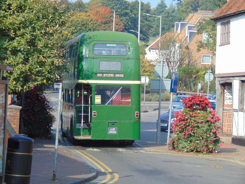 AEC Routemaster JJD412D RML2412 leaves Chesham.