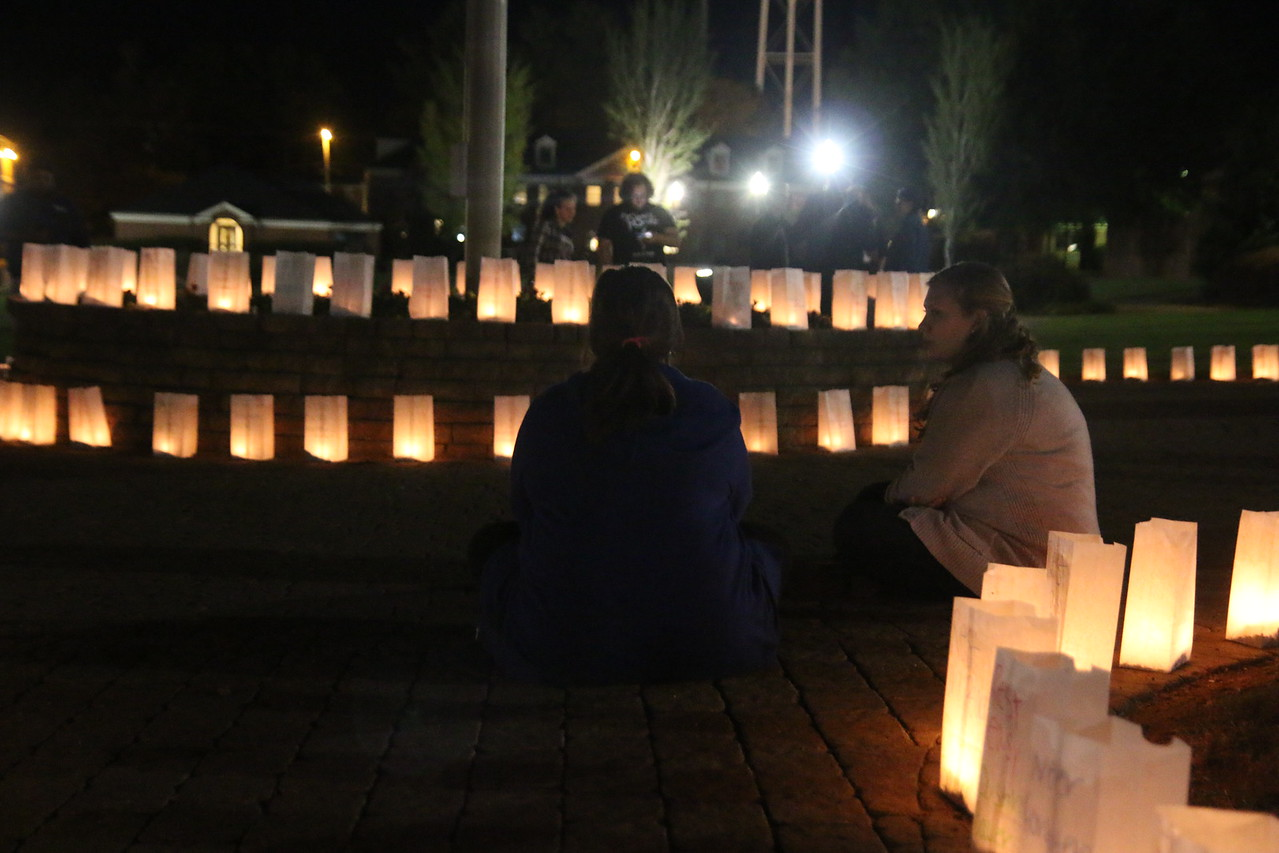 Students honoring those who lost their lives.