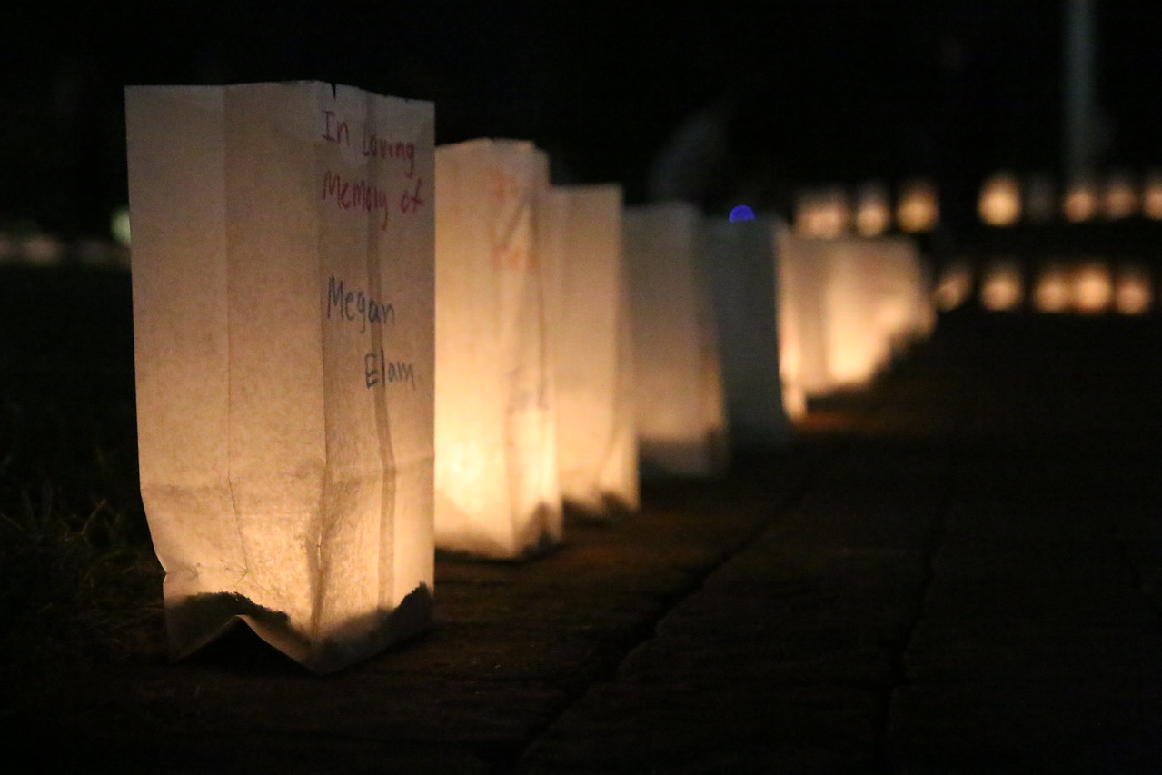 Luminary dedicated to Megan Elam.