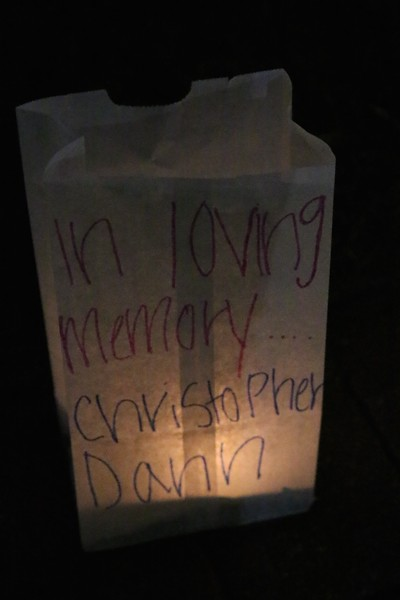 Luminary in honor of Christopher Dann.